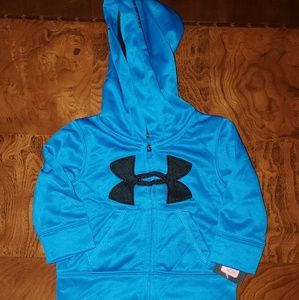 3/6mo blue under armour zip up hoodie